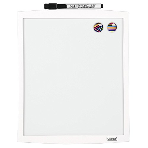 quartet-magnetic-dry-erase-board-with-curved-frame-9-x-11-white-frame-43085-wt