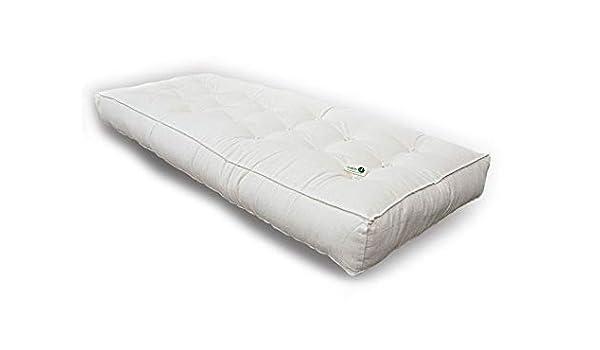 CusciniBio futón Doble látex con Acolchado y Funda de Almohada de Algodón Natural: Amazon.es: Hogar