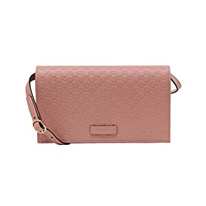 Gucci Women's Soft Pink Leather Crossbody Wallet Bag 466507 5806