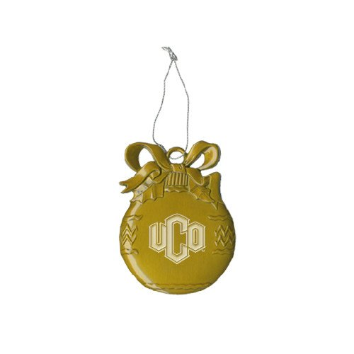 CollegeFanGear Central Oklahoma Gold Bulb Ornament 'Official Logo Engraved' by CollegeFanGear