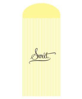 Diseño a rayas bolsas de papel para tus Candy Bar, amarillo ...