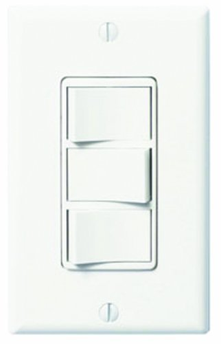 FV-WCSW41-W WhisperControl Four-Function On/Off Switch, White Compatible with Panasonic Fans