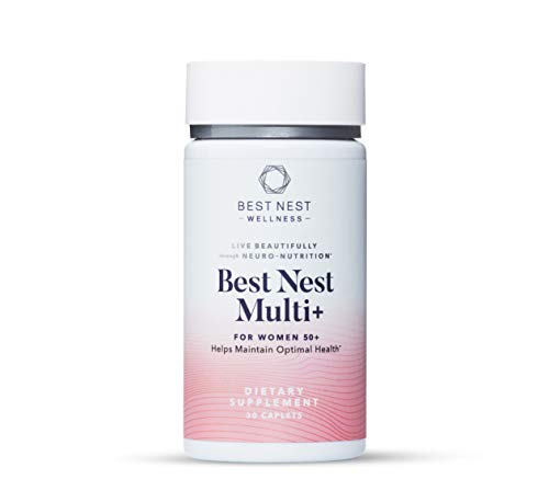 Best Nest Multi+ for Women Over 50, with Methylfolate, Natural Whole Food Organic Blend, Once Daily Vitamins, Immune…