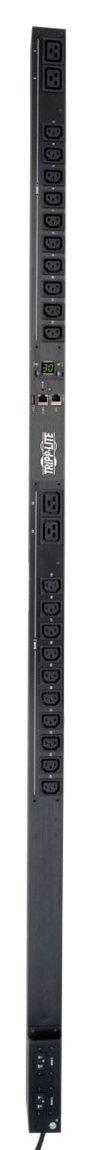 Tripp Lite PDU Monitored 5/5.8kW 208/240V 20 C13 & 4 C19 30A LX Platform L6-30P Vertical 0URM Rack-Mount TAA (PDUMNV30HVLX)