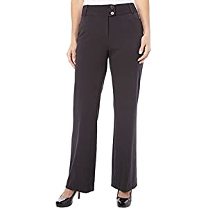 Rafaella Women's Curvy Fit Gabardine Boot Leg Trouser
