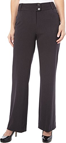 Rafaella-Womens-Curvy-Fit-Gabardine-Boot-Leg-Trouser