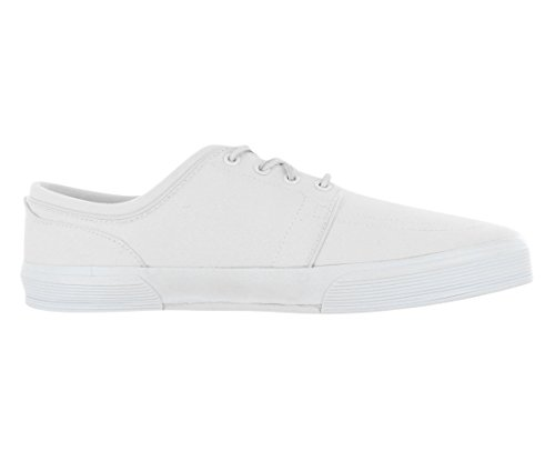 Polo Ralph Lauren Mens Faxon Lage Whip Witte Canvas Sneakers (13)