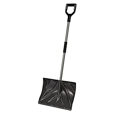 """Bigfoot 18"""" Poly Combination Snow Shovel with Shock Shield D-Grip 1887"""
