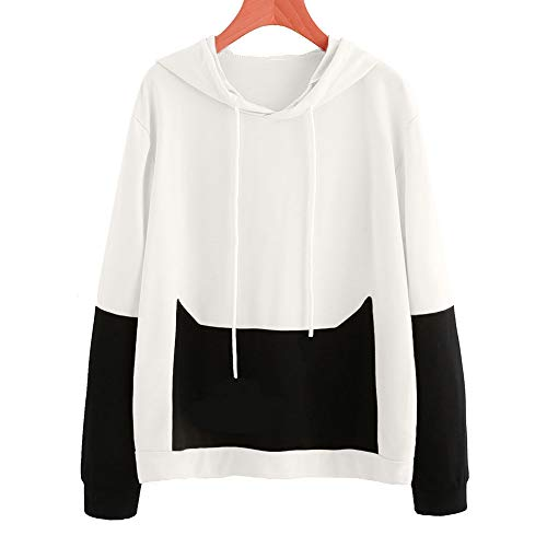 White Blouses Tops Warm Loose Letter Print Crewneck Women's Shirt Long Sleeve Autumn Sweater Sweatshirt Hooded Hoodie Coat Pullover Fashion Bestow Jacket 1BwxqHRfwv