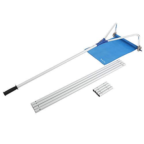 Sesiwillen Roof Snow Rake Removal Tool 20 Ft with Adjustable Telescoping Handle Rooftop Snow Rake Removal Tool Adjustable Extendable (Roof Razor Snow)