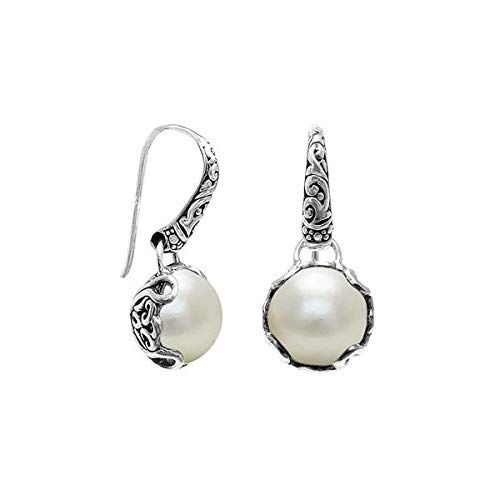 (Bali Designs Sterling Silver Earring with Mabe Pearl AE-8002-PE)