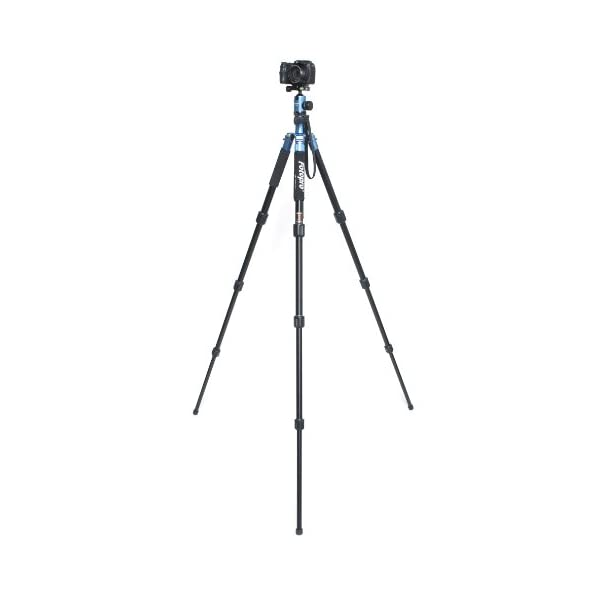RetinaPix Fotopro Colorful and Stylish Aluminium Tripod + Low Angle +Payload 8kg Color-Blue