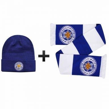 公式Leicester City冬ウォーマー帽子&スカーフギフトセット B079X4X8R8