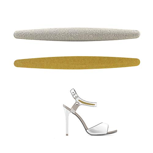 Mini High Heel Grips &Straps Grips for Women Self-Adhesive Heel Cushion Inserts Prevent Heel Slipping, Rubbing, Blisters Heel Sticker Mini Grips for Straps Shoes Pinch Protection 8Pieces (Beige)