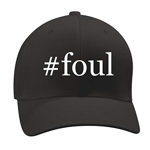 #Foul - A Nice Hashtag Men's Adult Baseball Hat Cap, Black, (Foul Weather Hats)