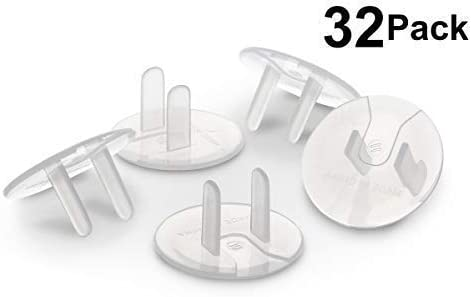 688bd68e4c0e Outlet Plug Covers (32 Pack) Clear Child Proof Electrical Protector Safety  Caps by Jool Baby Products