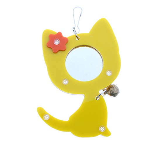 (Agordo Bird Parrot Mirror Toy Hanging Chewing for Parrot Parakeet Budgies)