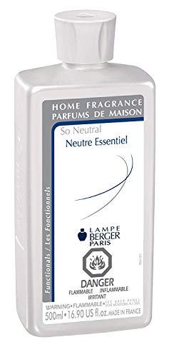 So Neutral | Lampe Berger Fragrance Refill by Maison Berger | for Home Fragrance Oil Diffuser | Purifying and perfuming Your Home | 16.9 Fluid Ounces - 500 milliliters | Made in France