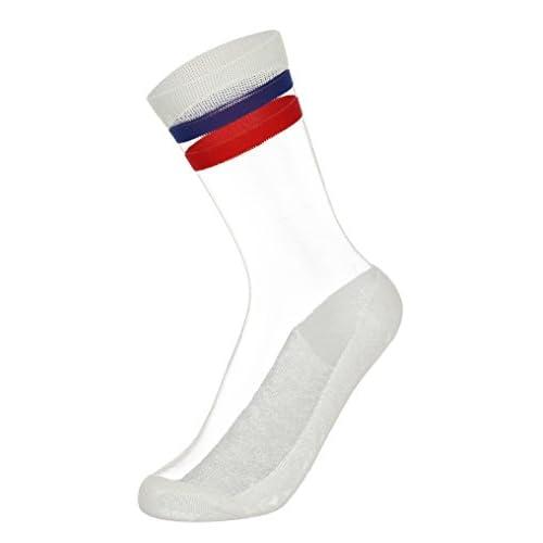 La Vogue 2 Paires Chaussette Transparent Socquette Sock Dentelle Femme Fille Été