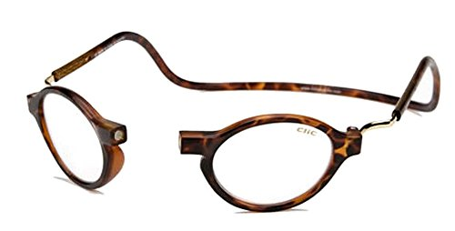 CliC Magnetic Classic Reading Glasses, Tortoise, 1.75 by CliC