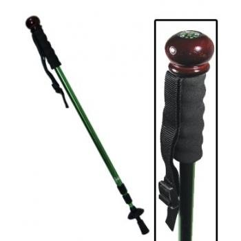 Collapsible Aluminum Shock-Absorbing Hiking Pole – Walking Stick with Camera Mono-Pod (Colors may vary), Outdoor Stuffs