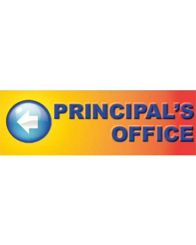 Principal Office (Directional Banner) Blended Background/Blue Lettering (Shown)