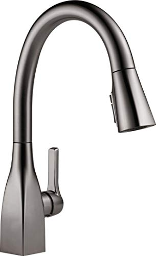 Delta Faucet 9183-KS-DST Single Handle Kitchen Faucet with ShieldSpray Technology Pull-Down, Black Stainless