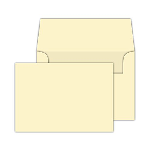 Cream / Natural / Off White, Heavy Blank Note Cards and Envelopes Size 5 X 7 - 50 Per Pack. - This Is Not a Fold Over (Fold Over Note Cards)