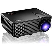 Projector, TENKER RD805 Mini Projector, Portable Home Cinema HD LED Video Movie Projector Support 1080P USB VGA HDMI AV, Compatible with Amazon Fire Stick TV Smartphones iPhone iPad, Black (Projector Tv Hdmi)