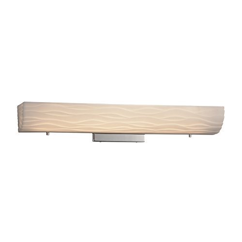 Limoges Linear Waves - Justice Design Group Lighting PNA-9065-WAVE-CROM Flux Linear Wall/Bath, 4.25