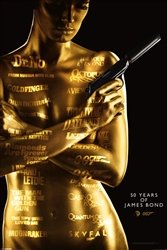 James Bond 50 Years History Action Movie Poster