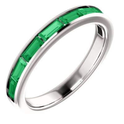 Chatham Created Emerald Ring - 5