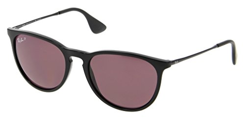 Ray Ban RB4171F 601/5Q 54 Black/Polarized Purple Erika Sunglasses Bundle-2 - Ray Black Erika Ban