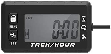 Jayron JR-HM058 Digital Hour Meter Tachometer,Maintenance Reminder,4 colors of Backlights,Alert RPM Reminder,for Motorcycle,Boat Mower,Lawn Mower,Motor Cycles,ATV,Marine Engines,Chainsaws,Tractors