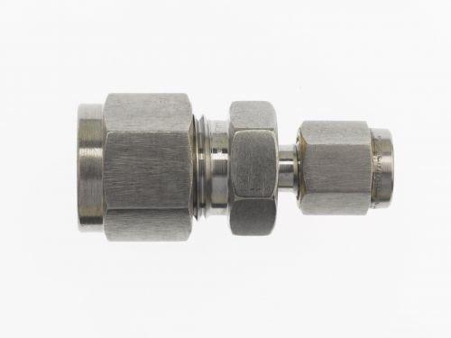 Brennan - Instrumentation Straight Adapter - 1/16 in Instrumentation x 1/16 in Instrumentation, Stainless Steel (2 Units) by brennan