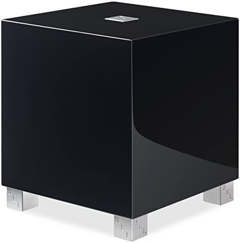 REL Acoustics T 5i Subwoofer, 8 inch Down-Firing Driver, Arrow Wireless Port, High Gloss Black