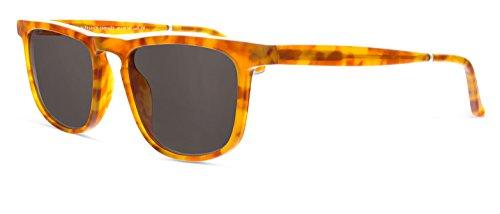Smoke X Mirrors Skyliner Unisex Sunglasses SM156 Based in New York City, Handmade in France (Ginger Tortoise, - Smoke X Mirrors Sunglasses