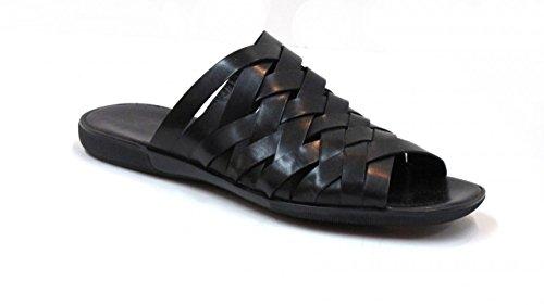 Franco Butteri Men's Italian 29980 Black Sandals, Size 45 (Italian Man Sandals compare prices)