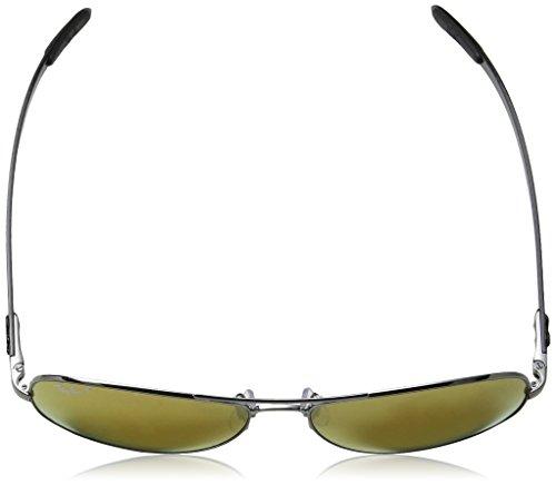 Ban Shiny Gunmetal 8301 Sonnenbrille Gunmetal Ray Brownmirrorgoldpolar RB Shiny R6q7fddw