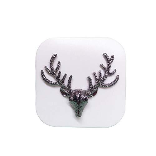 Retro Deer Contact Lens Case Personal Eye Care Glasses Holder-White]()