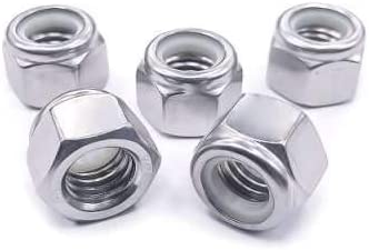1//2-13 Serrated Flange Hex Lock Nuts Quantity 10 Fastenere Bright Finish Stainless Steel 304