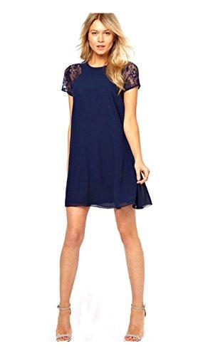 Buy belted chiffon shift dress - 1