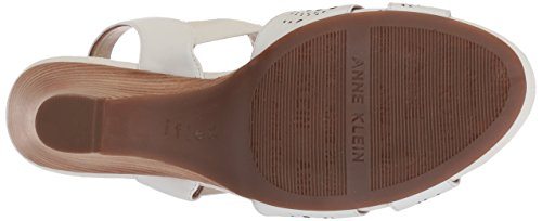 Anne Leather Grand Anne White Womens Klein Wedge Klein Sandal P5z8Sxqwn