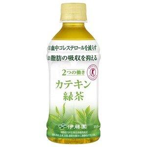 【まとめ買い】伊藤園 2つの働き カテキン緑茶 電子レンジ対応 HOT&COLD PET 350ml×48本(24本×2ケース) B07GMXBVW2