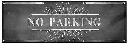 12x4 Chalk Burst Wind-Resistant Outdoor Mesh Vinyl Banner CGSignLab No Parking
