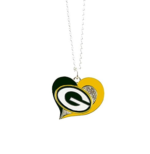 aminco NFL Green Bay Packers Swirl Heart - Green Heart Bay Packers