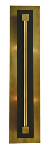 Framburg 2-Light Antique Brass/Matte Black Louvre Sconce (Framburg Outdoor Lamp)