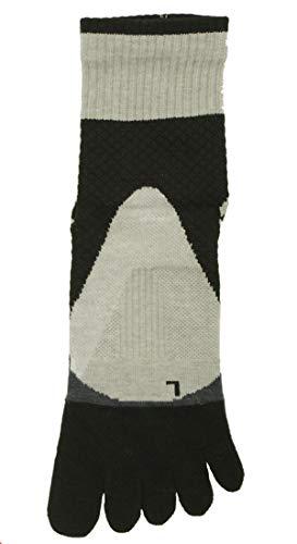 放置トラブルドームCOPO SPORTS メンズ ランニング サポート クルー 丈 5本指 ソックス (紳士 靴下 スポーツ) 25-27cm