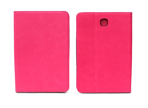 Sharp Icon Ultra Slim Leather Flip Wallet Back Cover Case for Samsung Galaxy Tab A T350,T355 8.0 inch   Pink