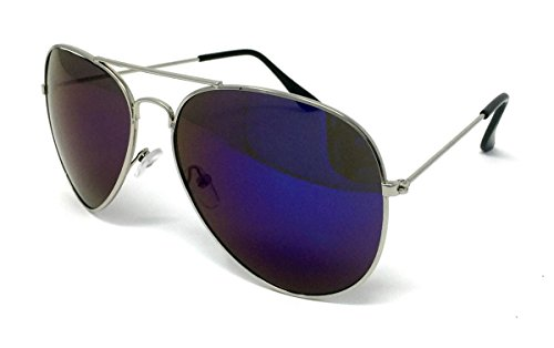 Size Blue Frame Homme Silver Lens One WSUK de soleil Lunettes Mirrored Awt78X
